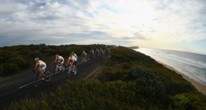 The Cadel Evans Great Ocean Road Race People's Ride which took place  in Geelong, Australia. Photograph: Robert Cianflone/Getty Images