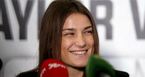 Katie Taylor will begin her pro career at Wembley Arena. Photograph: Donall Farmer/Inpho
