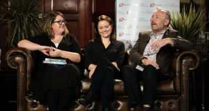 Catherine Ryan Howard, LJ Ross and Rick O'Shea at last weekend's Amazon event