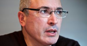 Mikhail Khodorkovsky: has made an application in the District Court for the unfreezing of funds first frozen in March 2011 under Irish money-laundering legislation. Photograph: Gianluca Colla/Bloomberg via Getty Images