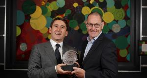 Dr Terry McWade (left), chief executive of Valitacell and Conor Sweeney of  InterTradeIreland. Photograph: Conor McCabe
