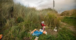 Preliminary results of a survey conducted has found that drink containers constitute the most widespread type of litter  on the Irish coastline. Photograph: Joe O'Shaughnessy
