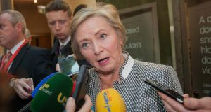 Tánaiste and Minister for Justice and Equality Frances Fitzgerald accused Fianna Fáil of not providing many answers to the problem. Photograph: Gareth Chaney/Collins