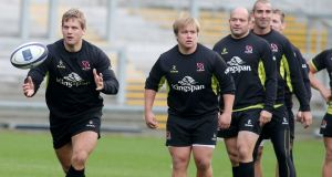 Flanker Chris Henry (left) returns to the Ulster team after injury. Photograph: Jonathan Porter/Inpho.