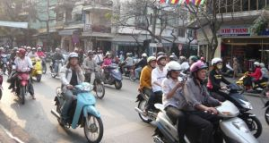 Air-pollution problems afflict large Vietnamese cities such as Hanoi, which frequently has a  blanket of smog.
