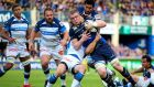 Dan Leavy in action against Castres at the RDS. Leavy, happily injury free, has consistently delivered on his prodigious ability this season. Photograph: Tommy Dickson/Inpho
