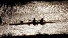 Rowing underway wintery  sunlight on the River Liffey. Photograph: Alan Betson