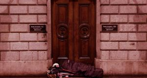 Dublin city centre has around 162 rough sleepers, according to  a recent  Simon Community count. Photograph: Nick Bradshaw