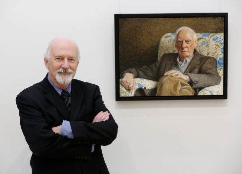 <b>Fergus A. Ryan, Harold, 2016. </b> <br><br>Fergus Andrew Ryan is a realist painter born in Dublin in 1948. His finely-detailed paintings have been exhibited at the RHA and RUA, included in the OPW's State collection, and featured in International Artist magazine. Influenced by the thoughtful works of Andrew Wyeth and contemporary Madrid realists Antonio López and Isabel Quintanilla, the artist has studied with Israel Hershberg in northern Lazio, and spent the spring of 2015 at the Florence Academy of Art. Fergus was formerly an Aer Lingus pilot on long-haul 707 and 747 operations in North America, Africa and the Middle East. He is married to Sarah.