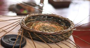 Ciaran Hogan runs basket-making courses in Connemara