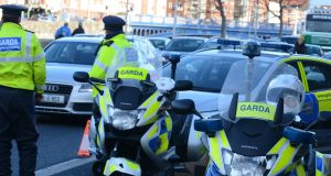 The annual change in hourly earnings in the gardaí is 0.7 per cent, compared to a public sector average of just 0.1 per cent. Photograph: Cyril Byrne