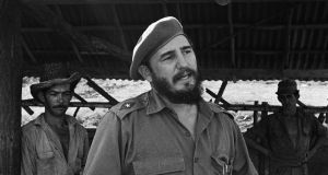 Fidel Castro during a visit to a farm outside Havana in 1964. Photograph: Jack Manning/The New York Times