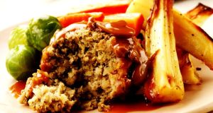 Nut roast pairs well with the traditional Christmas side dishes and won't leave vegetarians feeling left out