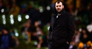"Michael Cheika: ""We have been told that we can't talk about that in public, because they don't want the interpretations being done in public. That's the edict they have given us we can't say anything about it, we'd love to but we are not allowed to. I don't want to get myself in any strife."" Photo: Dan Mullan/Getty Images"