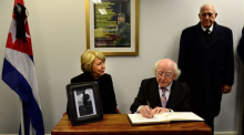 Cuban Ambassador appreciates President Higgins 'position of solidarity'