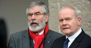 Sinn Fein's Gerry Adams and Martin McGuinness. Photograph: Eric Luke / The Irish Times