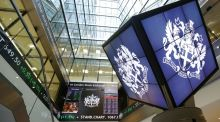 The FTSE 100: A quarterly review, based on closing prices, is likely to push some companies out and add others on. Photograph: Yui Mok/PA Wire