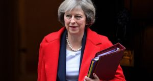 Theresa May: The article 50 process that ends with the UK leaving the EU begins with the prime minister notifying the Council of Ministers of the intent to leave. Photograph: Carl Court/Getty Images
