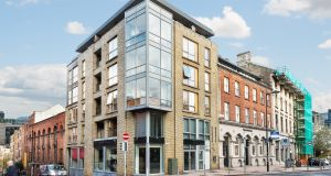 The unit for sale, which includes an ATM let to AIB, is in a modern mixed-use development of shops and apartments