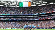 "In the context of an ""agreed Ireland"", the GAA would consider curbing the widespread use of the Irish flag and national anthem. Photograph: Cathal Noonan/Inpho"