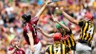 Galway and Kilkenny in action during this year's Leinster senior hurling final at Croke Park. Photograph: John Byrne/Inpho