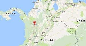 The plane was on its way to Medellin's Jose Maria Cordova airport when it crashed. Source: Google maps