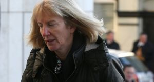 Bernadette Scully (58), of Emvale, Bachelor's Walk, Tullamore, arrives at the Central Criminal Court in Dublin, where she is charged with the manslaughter of her daughter Emily Barut (11) in September, 2012. Photograph:  Collins Courts.