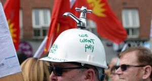 An anti-water charges protest in Dublin last year. File photograph: Eric Luke/The Irish Times