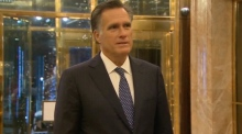 Romney praises Trump, numerous times, after dinner