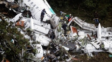 Chapecoense plane crash: police footage shows scale of crash site