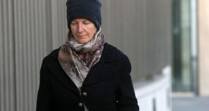 Bernadette Scully (58)  is charged with the manslaughter of her daughter Emily Barut (11) in September, 2012. Photograph:  Collins Courts.