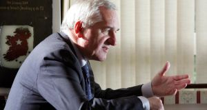 Bertie Ahern, in his constituency office, St Luke's in Drumcondra in 2005. File photograph: Eric Luke