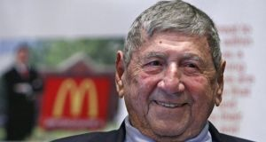 "Michael ""Jim"" Delligatti the Pittsburgh-area McDonald's franchisee who created the Big Mac in 1967, has died aged 98. Photograph: Gene J. Puskar/AP"