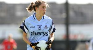 "Amy Ring of Foxrock-Cabinteely GAA Club: ""After losing the semi-final last year, we needed to go one better."" Photograph:  Ryan Byrne/Inpho"