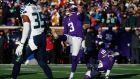 Minnesota Vikings' Blair Walsh  misses a crucial  27-yard field goal in last January's 10-9 play-off defeat to  the Seattle Seahawks. Photograph:  Jamie Squire/Getty Images