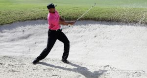 Tiger Woods practises  ahead of the Hero World Challenge at the Albany Golf Club in  the Bahamas. Photograph:  Christian Petersen/Getty Images