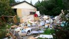 Waste material dumped outside a house off Church Road in Rolestown, north Co Dublin. Photograph: Cyril Byrne
