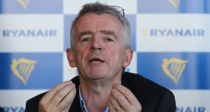 Ryanair chief executive Michael O'Leary: Shares in the low-cost airline dipped 3 per cent to close down at €13.70 after a surge in oil prices. Photograph: Niall Carson/PA Wire