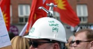 The long-running problem of water-charge protests has proved a divisive social and political issue. Photograph: The Irish Times