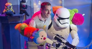 Ryan Tubridy on the set of the Late Late Toy Show. Is it true that we all want a child to throw Ryan Tubridy off with the occasional swear word? Photograph: Brenda Fitzsimons