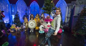 Ryan Tubridy arrives on the set of the Late Late Toy Show. Photograph: Brenda Fitzsimons