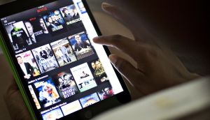 Netflix: the company is enabling downloads for offline viewing. Photograph: Bloomberg