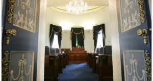 Refurbishment of Seanad chamber (above) prompted move on to National Museum's territory.   Photograph: Alan Betson