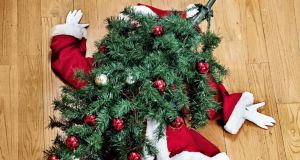 Every year in the UK about 1,000 people are injured by Christmas trees, usually while fixing stars, lights or other decorations to the higher branches. Photograph: iStock