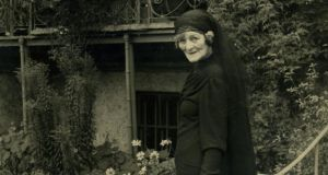 Maud Gonne outside Roebuck House. Photograph courtesy of the Yeats Society of Sligo