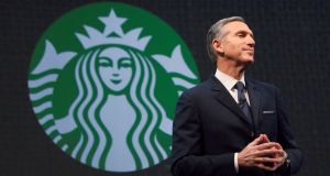 Starbucks outgoing chief executive Howard Schultz who will hand the reins to a lieutenant, Kevin Johnson, who could solidify its role as a technology company. (Photograph: David Ryder/Reuters)
