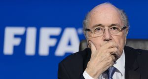 Former Fifa president Sepp Blatter will learn on Monday whether his appeal against a six-year ban from football has been successful. Photograph: Getty Images