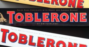 Gaps in the market: Toblerone drew the ire of customers by increasing the spacing between its  chocolate pyramids. Photograph: iStock