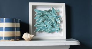 Framed ceramic fish from Karo Art
