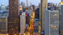 The bright lights of Chicago, where shopping is the visitors' favourite sport. Photograph: Getty Images
